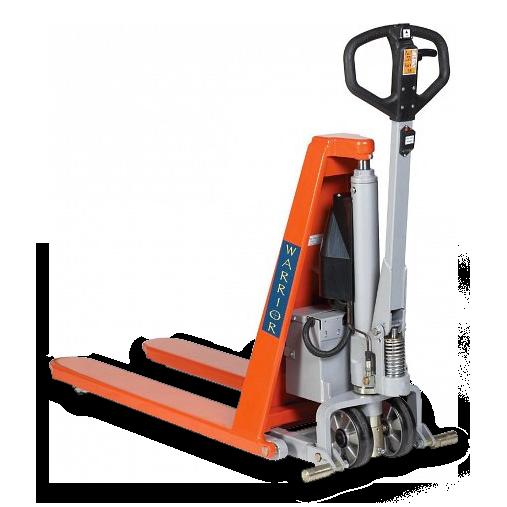 Warrior Electric high lift pallet truck