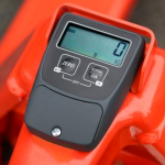 Warrior eco weigh scale pallet truck - close up of display screen